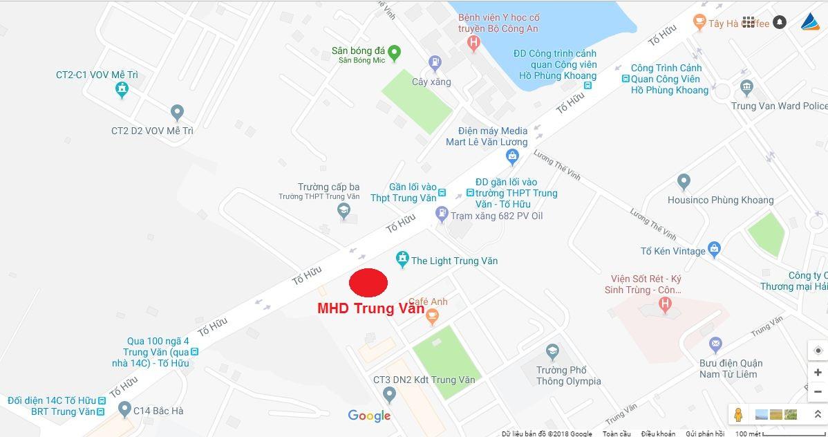 Vị trí chung cư MHD Trung Văn